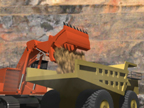 Sequence for mining with 3-D machines. Note: the motion blur and dust.